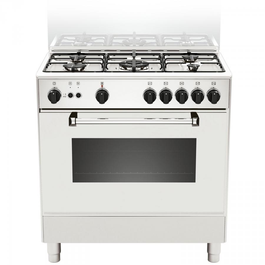AM85C71DW - Cucina con Forno a Gas da 80 cm LA GERMANIA Serie ...