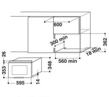 AMW497IX - Microonde da Incasso Sottopensile WHIRLPOOL Display ...