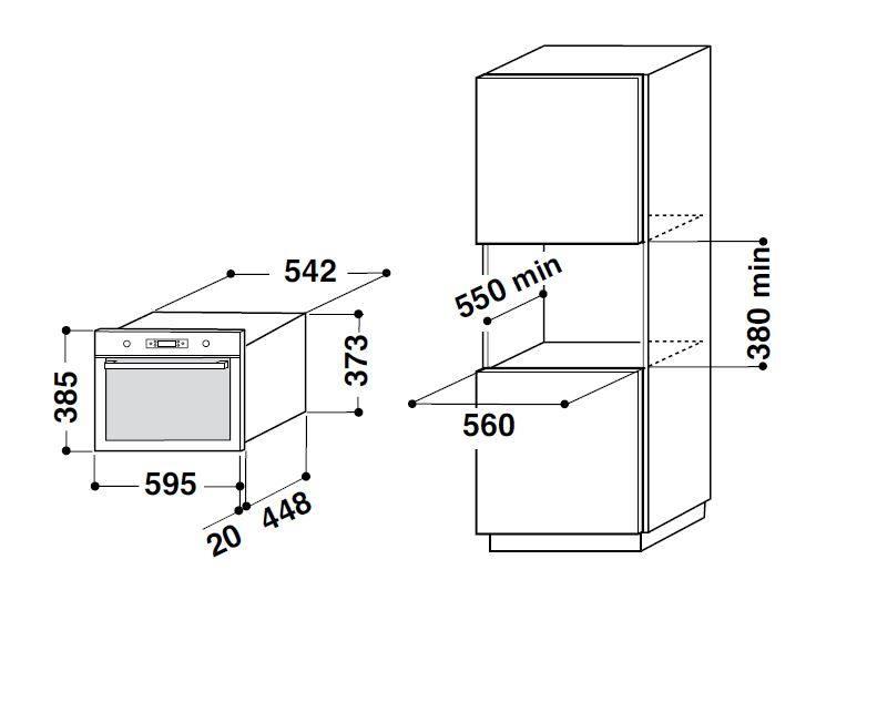 AMW735IXL - Microonde da Incasso WHIRLPOOL Ambient Display Digitale ...